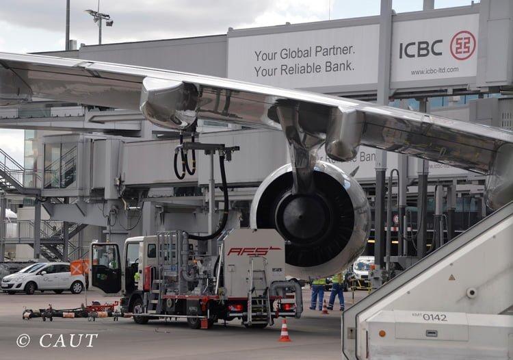 Terminal del Aeropuerto de Frankfurt.