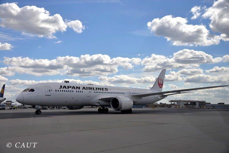 Boeing 787 de Japan Airlines en Frankfurt.