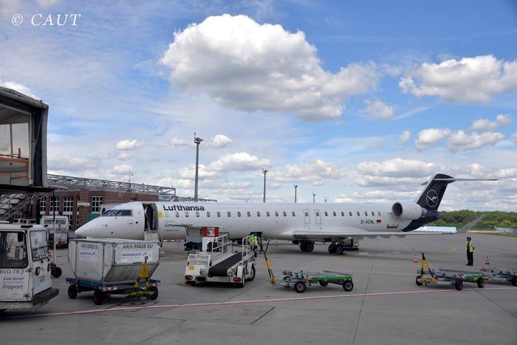 Bombardier CRJ-900 de Lufthansa en Frankfurt.