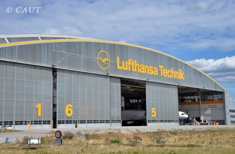 Hangar de Lufthansa Technik en Frankfurt.