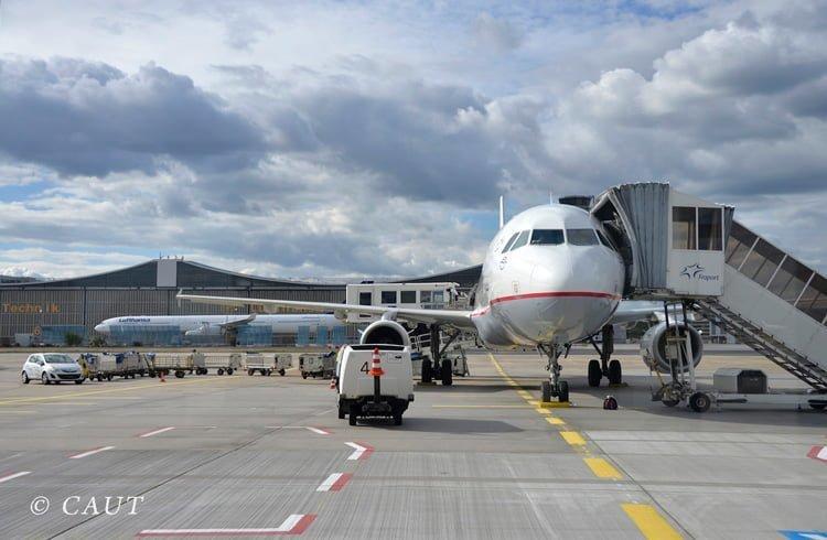 Airbus A320 en Frankfurt.
