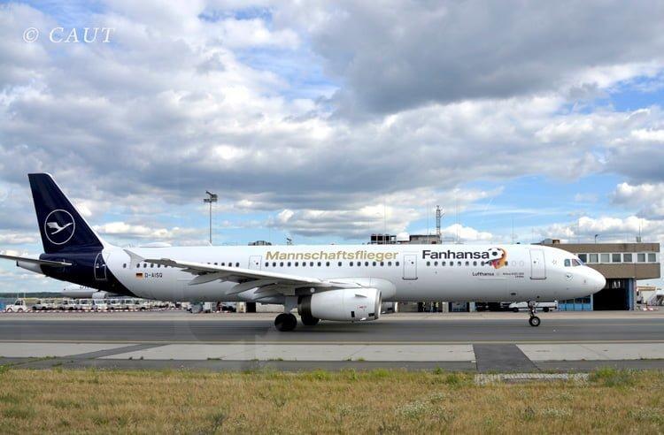 Airbus A321 de Lufthansa con nuevo livery en Frankfurt.
