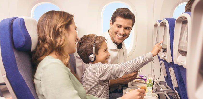 Experiencia de viaje en un vuelo de LATAM Airlines.