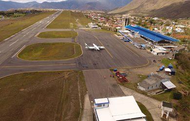 Vista aérea del Aeropuerto Antonio Nariño de Pasto.