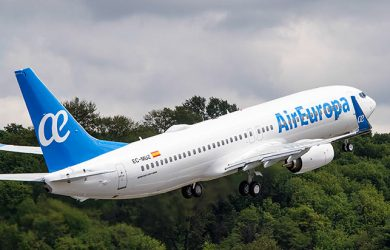 Boeing 737-800 de Air Europa con nuevo sistema de entretenimiento.