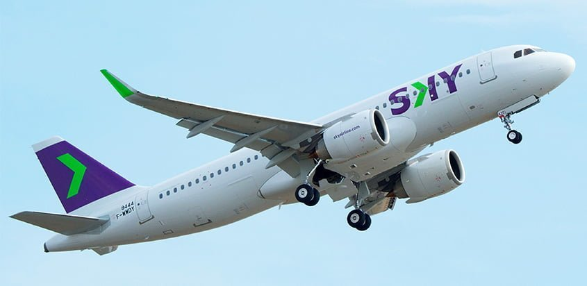 Airbus A320neo de Sky Airline.