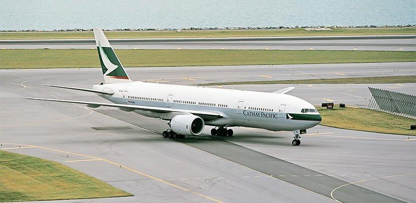 Primer Boeing 777 producido, donado por Cathay Pacific al Pima Air & Space Museum.