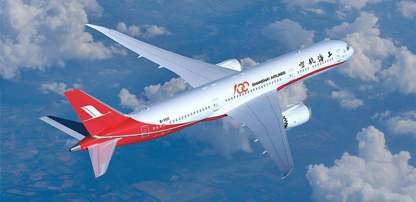 Primer Boeing 787-9 para Shanghai Airlines.