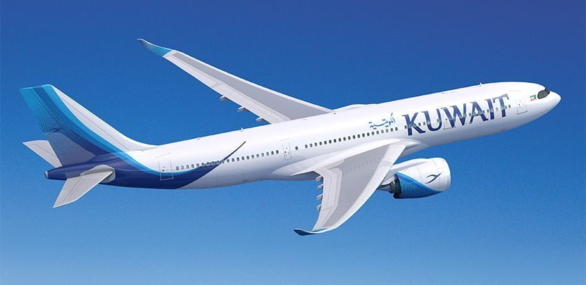 Render de un Airbus A330-800 de Kuwait Airways.