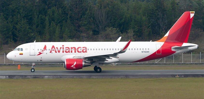 Airbus A320 de Avianca en Medellín.