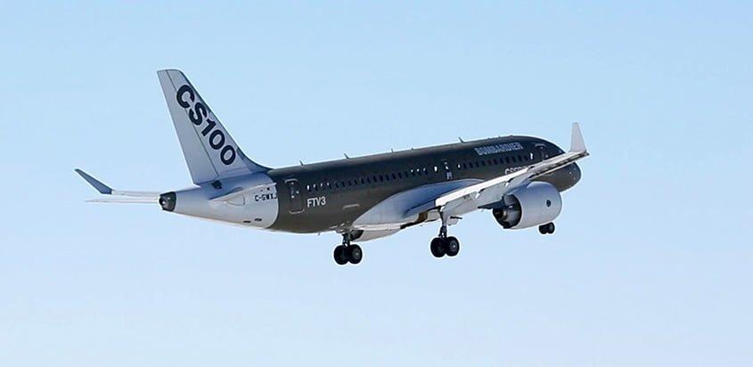 Bombardier CS100 donado a ÉNA.