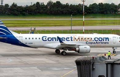 Embraer 190 de Copa Airlines con livery de ConnectMiles.