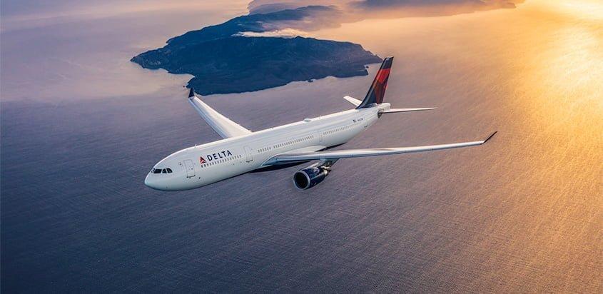 Airbus A330-300 de Delta Air Lines en vuelo.