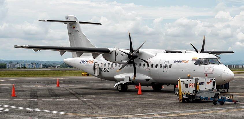 ATR 42-600 de EasyFly en el Aeropuerto Matecaña de Pereira.
