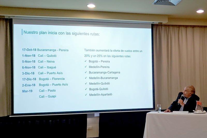 Alfonso Ávila, Presidente de EasyFly, expone el plan de expansión en Cali.