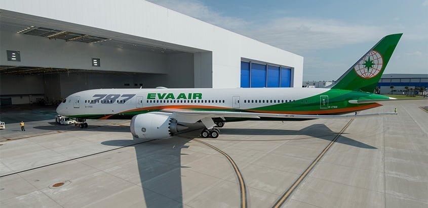 Primer Boeing 787-9 de Eva Air.