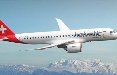 Embraer 190-E2 de Helvetic Airways.