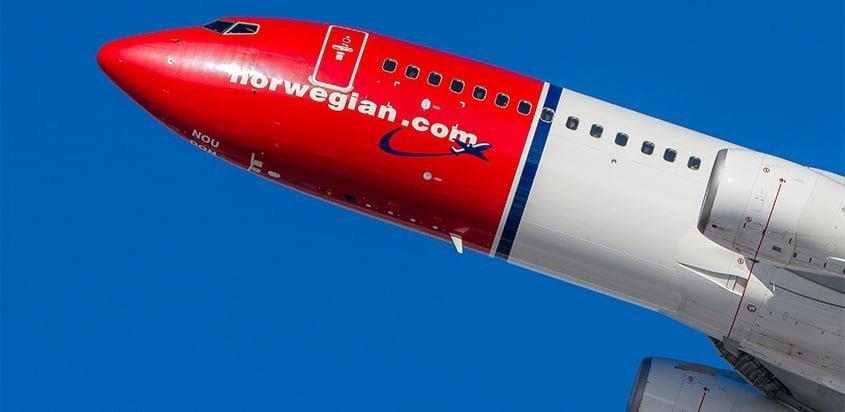 Boeing 737-800 de Norwegian.