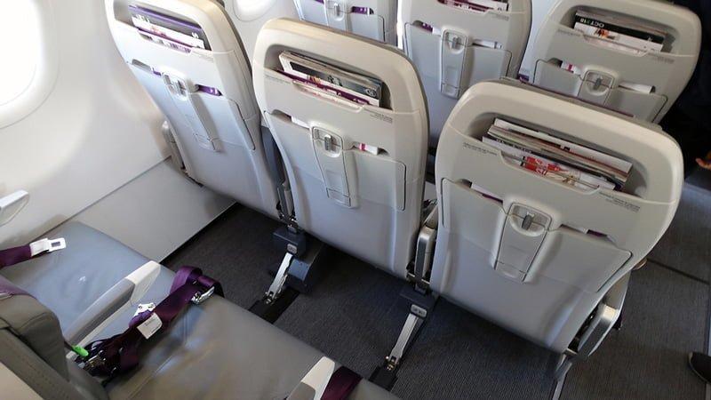 Sillas del primer Airbus A320neo de SKY Airline.