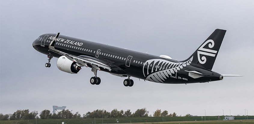 Primer Airbus A321neo de Air New Zealand.