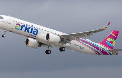 Primer Airbus A321LR de Arkia Airlines.