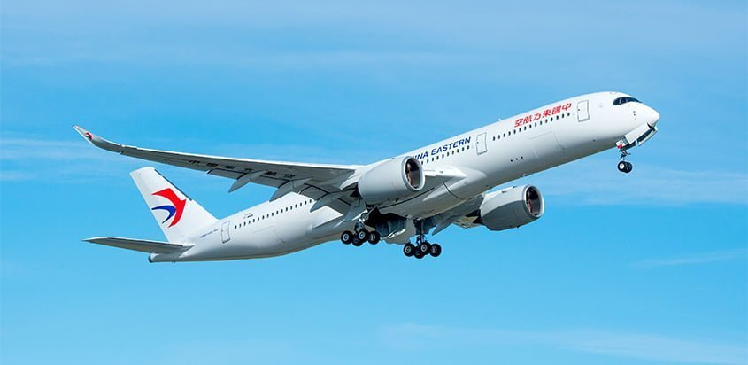 Primer Airbus A350 de China Eastern Airlines.