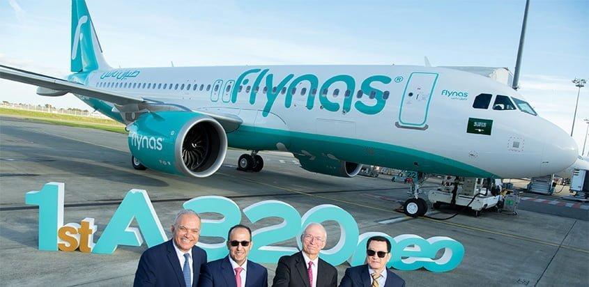 Primer Airbus A320neo de Flynas.