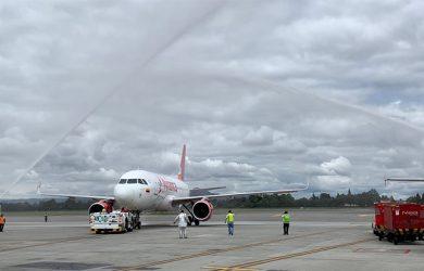 Airbus A319 de Avianca que realizó el primer vuelo entre Bogotá y Chicago.