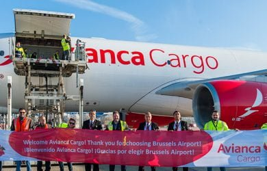 Vuelo inaugural de Avianca Cargo a Bruselas, Bélgica.