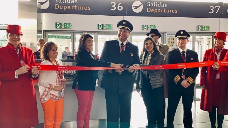 Inauguración del vuelo Bogotá-Chicago de Avianca.
