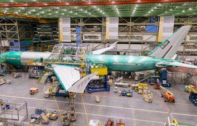 Ensamblaje del primer Boeing 777X.