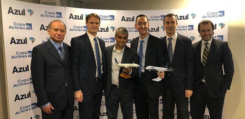 Acuerdo de código compartido de Copa Airlines y Azul.