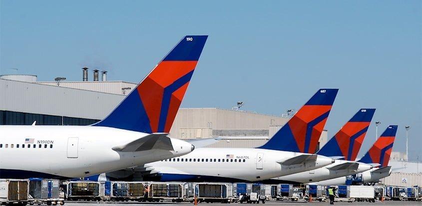 Flota de Delta Air Lines en Atlanta.