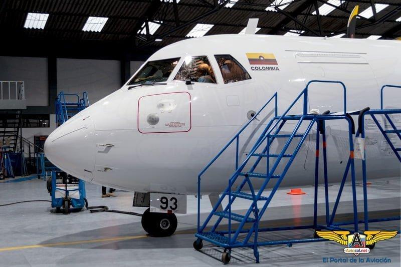 Primer ATR 72-600 de EasyFly en su llegada a Bogotá.