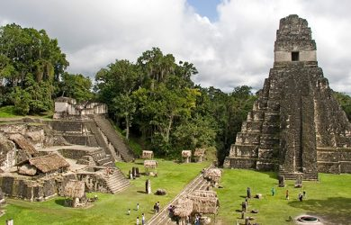 Templo Gran Jaguar Tikal en Guatemala.