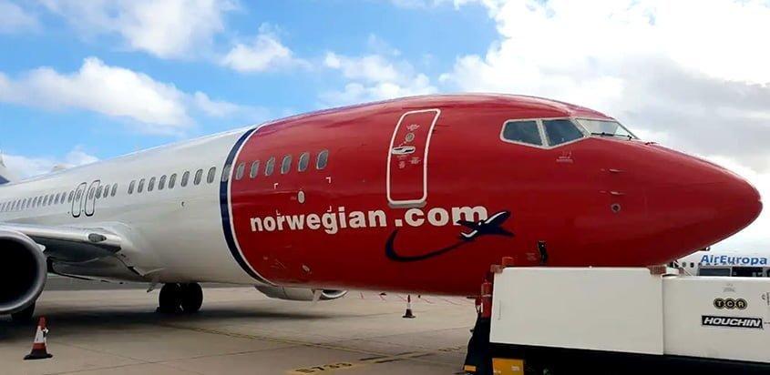 Segundo Boeing 737-800 de Norwegian Argentina.
