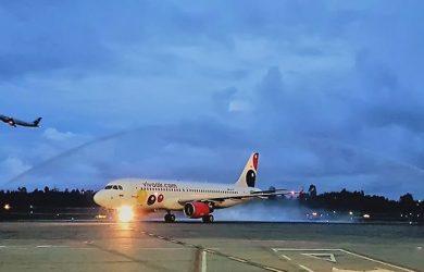 Airbus A320 de Viva Air Perú en Medellín.