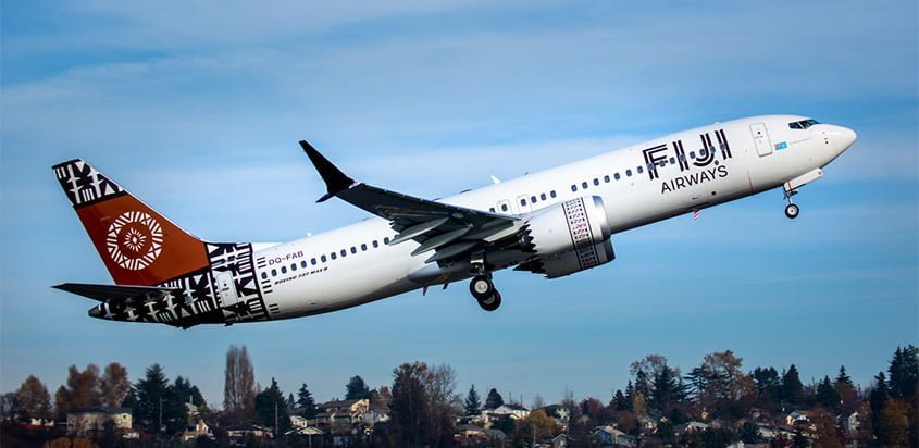 Primer Boeing 737 MAX de Fiji Airways.