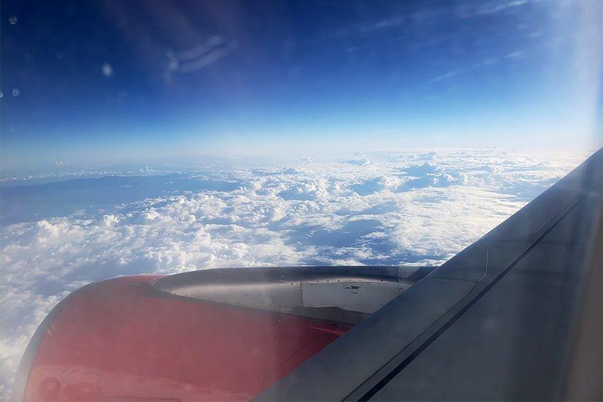Vuelo Santa Marta-Miami - Volando sobre Jamaica.