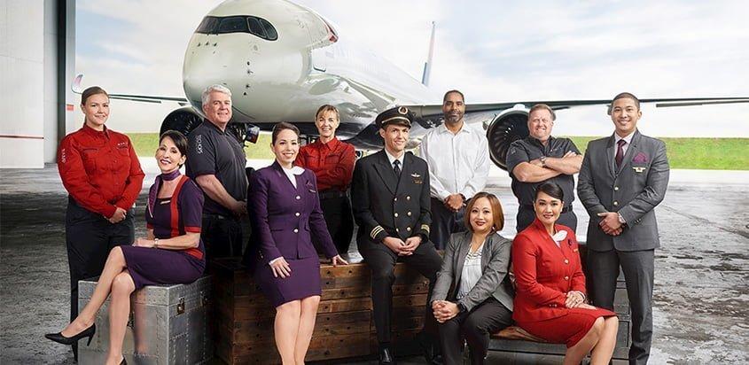 Grupo de colaboradores de Delta Air Lines.