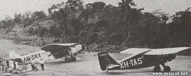 Los primeros aviones de TACA.