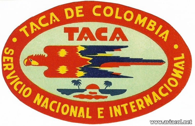 Logo de Aerolíneas TACA de Colombia.