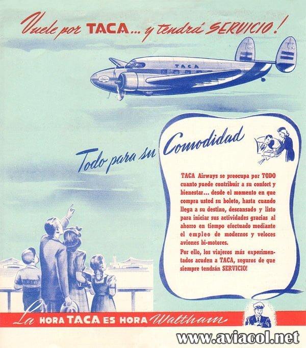 Publicidad de TACA Venezuela.