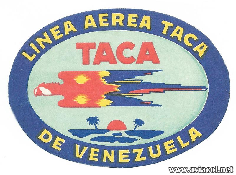 Logo de Línea Aérea TACA de Venezuela.