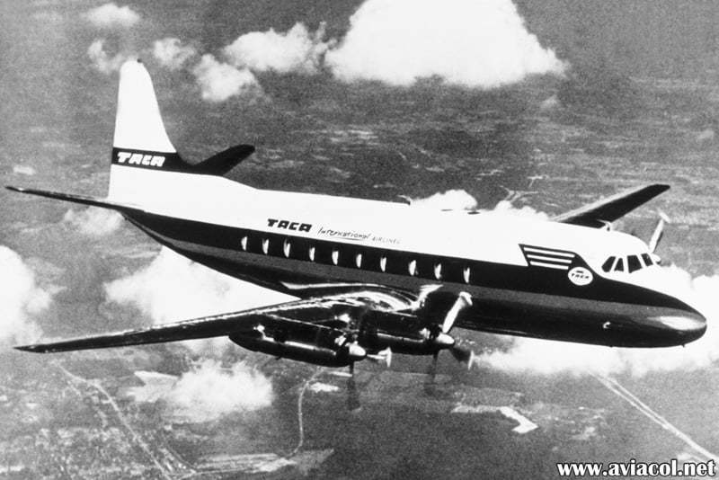 Vickers Viscount de TACA matrícula YS-06C.