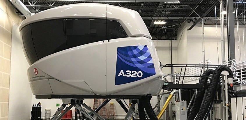 Simulador de vuelo de un Airbus A320neo.