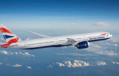 Prototipo de un Boeing 777-9 de British Airways.