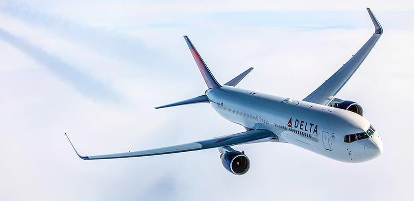 Boeing 767-300 de Delta Air Lines en vuelo.