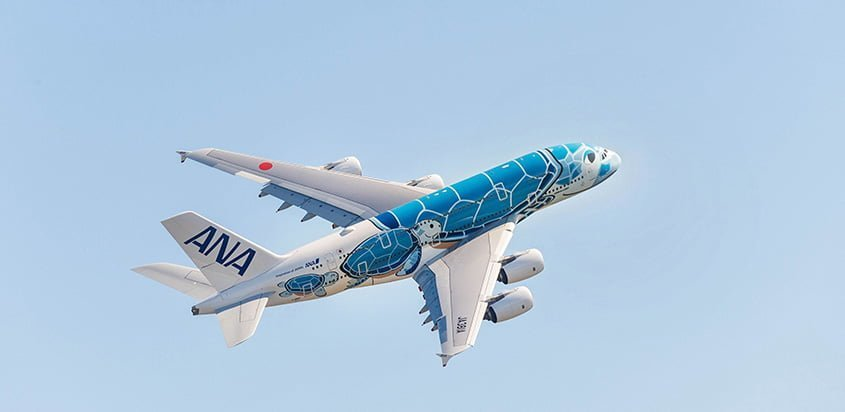 Airbus A380 de All Nippon Airways.