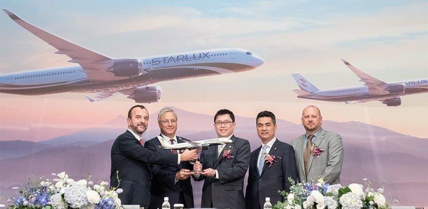 Presentación del pedido de A350 de STARLUX.